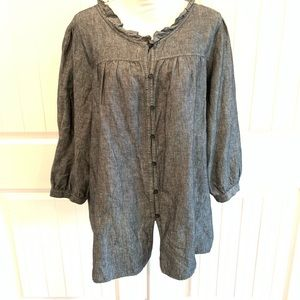 Harve Benard Light Black Denim Shirt - 2X